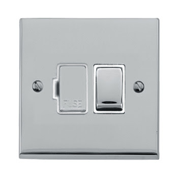 The Heritage Brass R02.840PCW - Victorian Elite Single Switched Socket in Polished Chrome