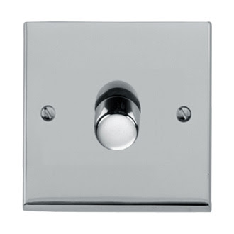 The Heritage Brass R02.871/400 - Victorian Elite Single Dimmer in Polished Chrome