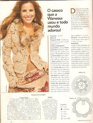 Casaco de Crochê tirado da Revista Manequim