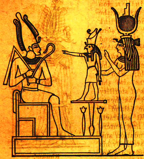 Myths osiris egyptian divine sperm of