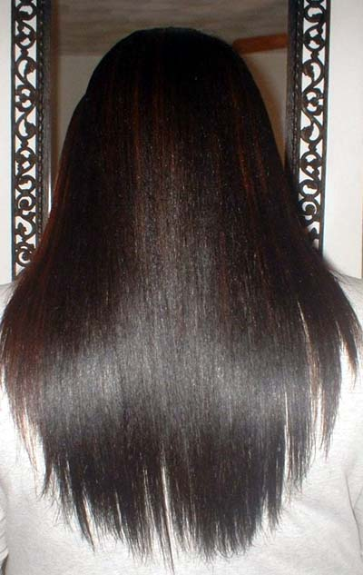 Super Straight Long Black Hairstyle black people use to do especially women