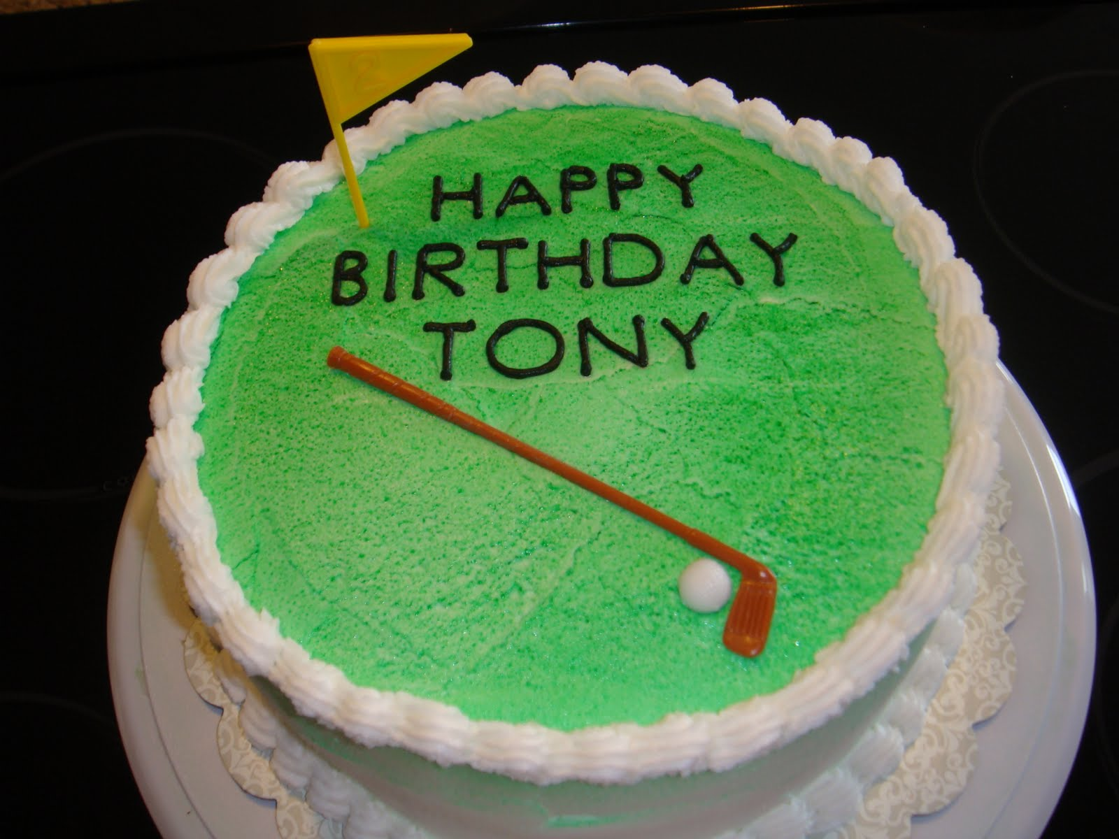 Vickis Sweet Treats Golf Themed Cake for Tonys Birthday