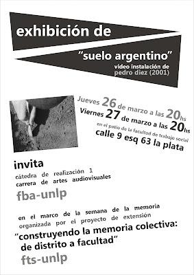 Invitacion a la proyección de Suelo Argentino