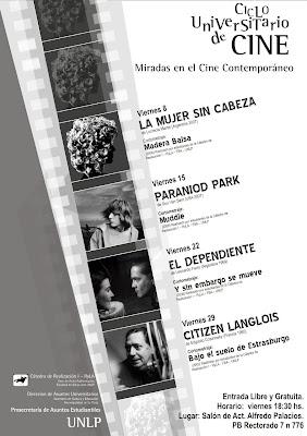 Afiche con la programación de Mayo 2009