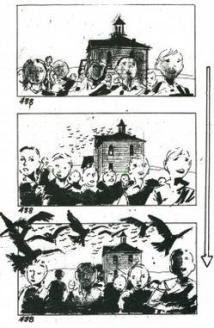 Storyboard de Los Pájaros