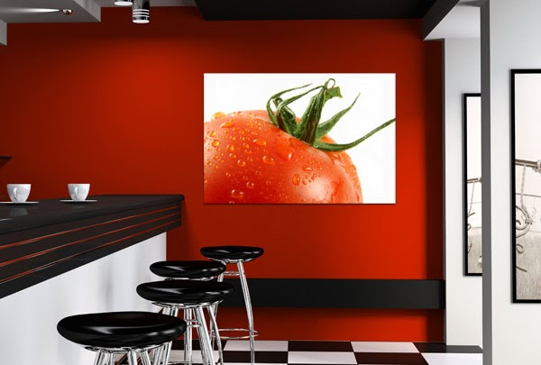 The deco house tableau d coratif de fruits dans une cuisine - Tableau cuisine rouge ...