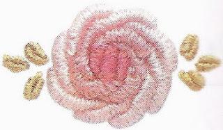 рукоделие, вышивание, вышивка, вышивка розы, классическаяроза, вышивка розы в технике