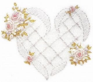 рукоделие, вышивание, вышивка, вышивка в технике рококо, техника рококо, сердечки, розы, описание и схемы вышивки рококо, подарки своими руками, день святого валентина, день влюбленных, украшения на белье, украшения из вышивок