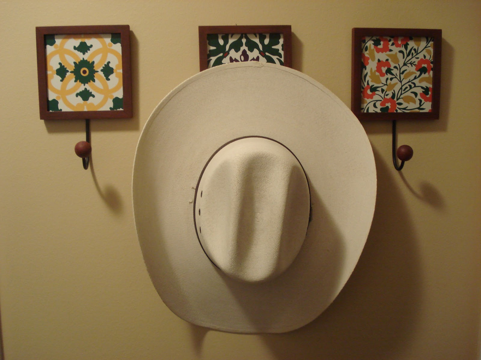 Sunflower way a cowboy needs a place to hang his hat for Ways to hang hats on wall