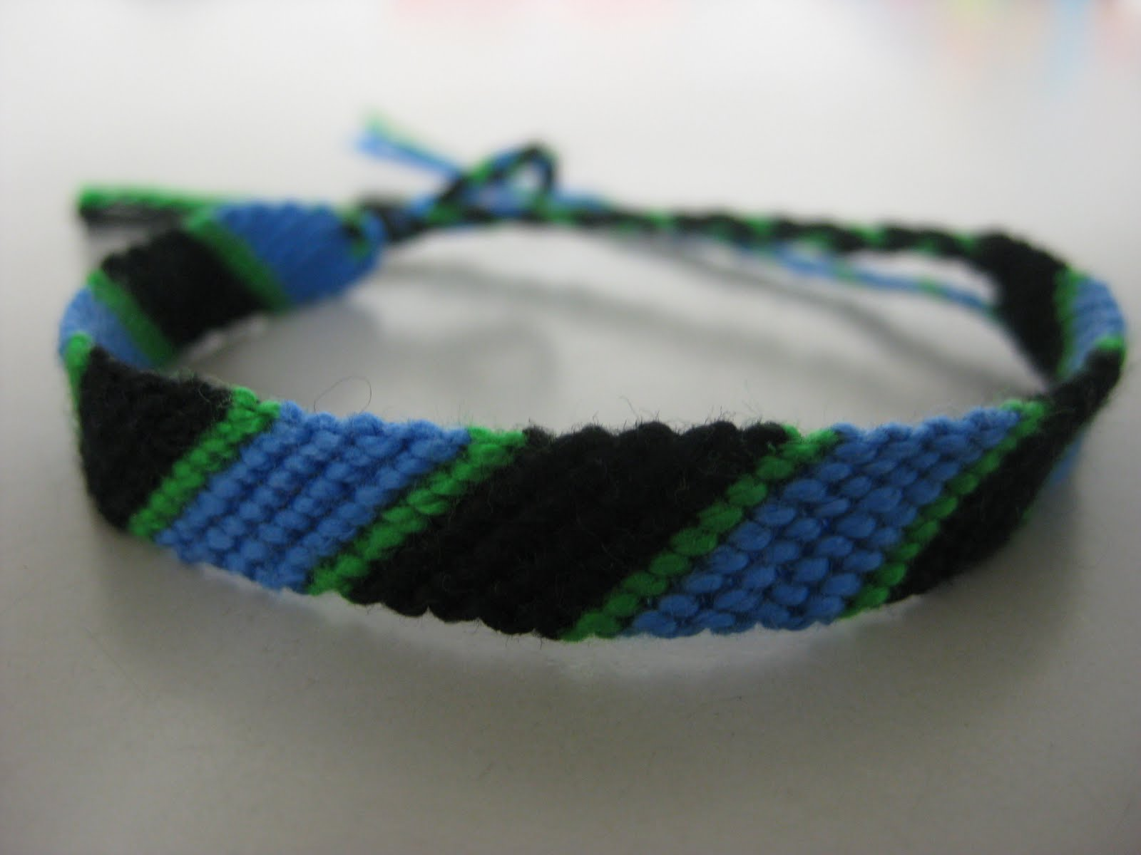 A colorful collection of hand-made friendship bracelets...: April 2010