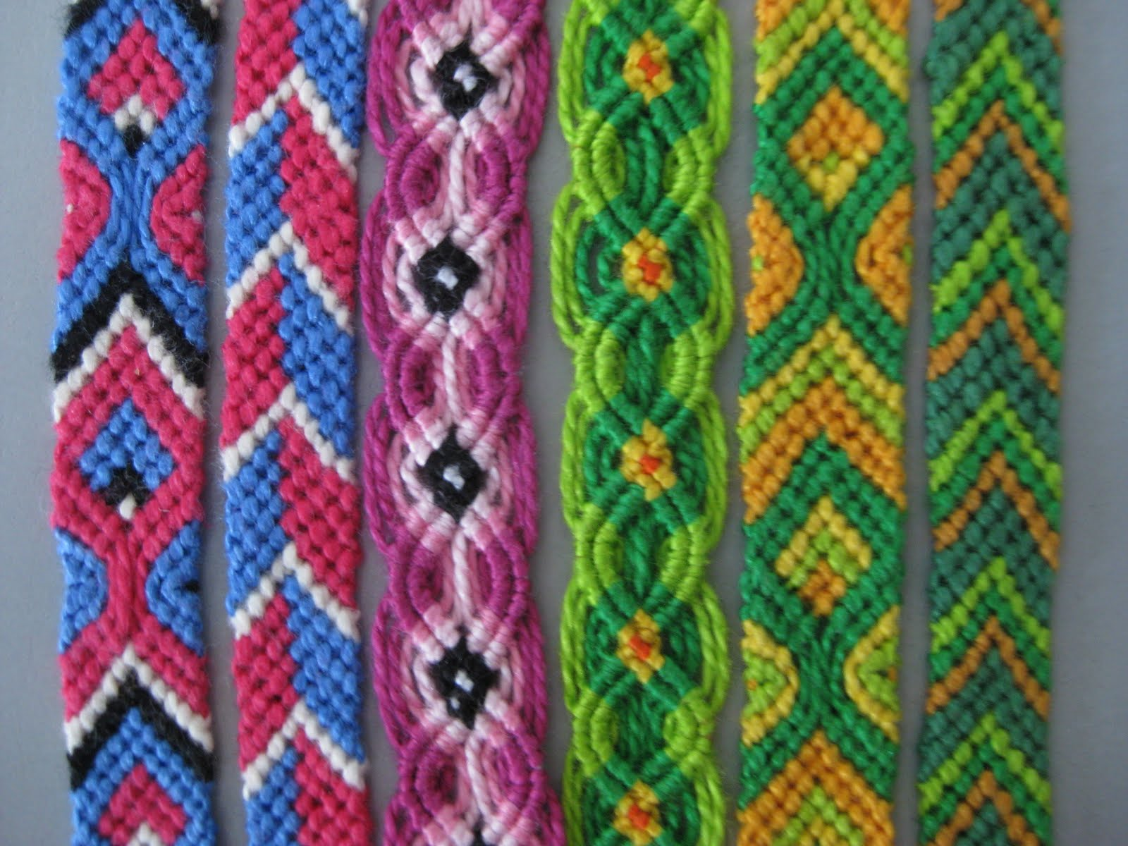 A Colorful Collection Of Hand Made Friendship Bracelets May 2010