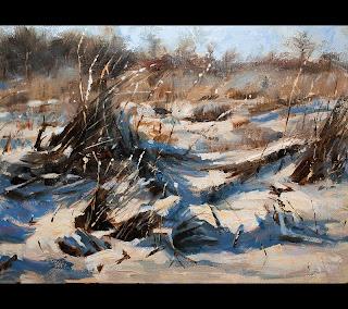 snow landscape oil painting erik van elven 11n