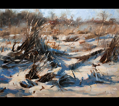Best Landscape Oil Paintings Snow Landscape by Erik van Elven