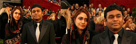 , Saira Bano Rahman Pictures | A R Rehman Wife Saira Pictures Oscar Red Carpet Black Dress