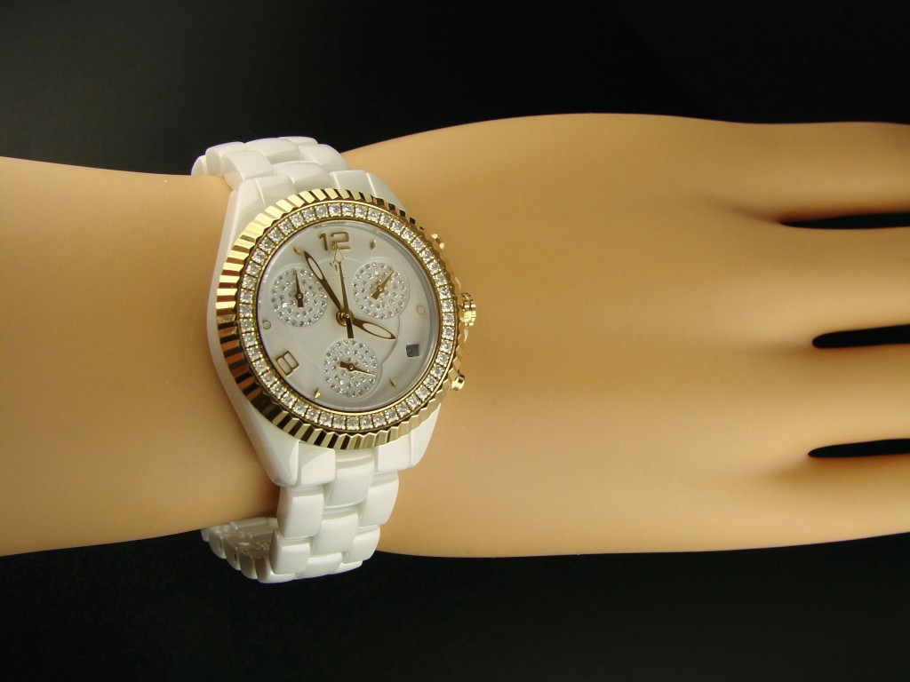 New york jewels aqua master jojo techno kc ceramic diamond watch c for Aqua marine watches