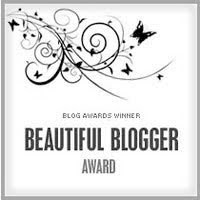 I received a beautiful blogger award