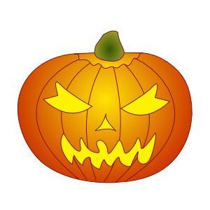 how to draw a cartoon pumpkin
