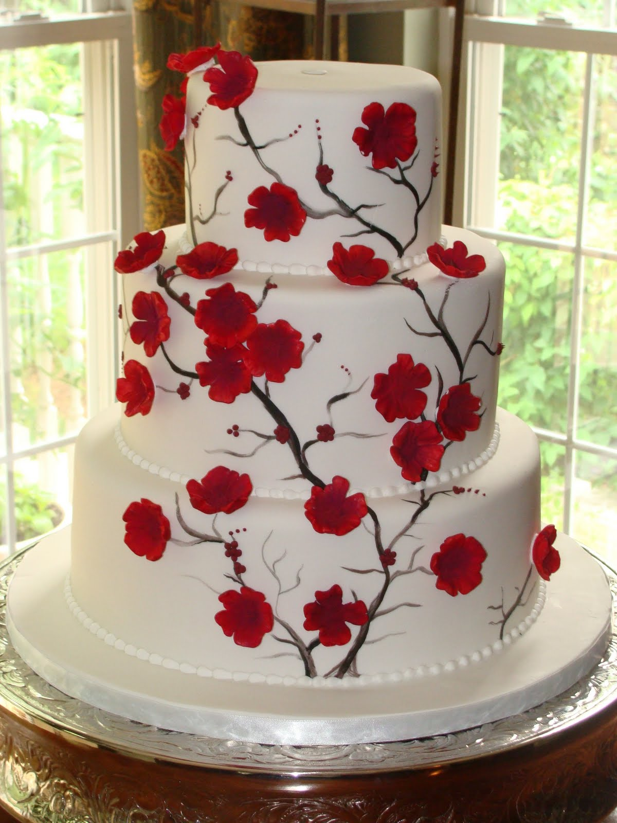 Cake Talk Red Blooms