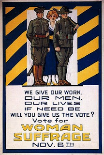 Suffrage Poster, World War I era, by Evelyn Rumsey Cary