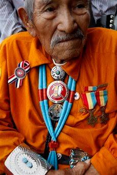 Navajo Code Talker Lemuel Yazzie