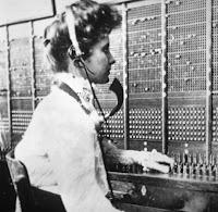 Telephone operator circa 1900
