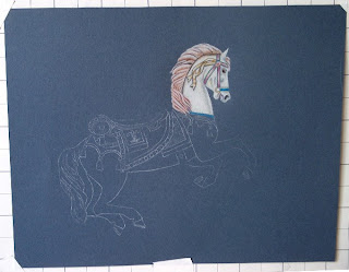 how to draw carousel horse designs