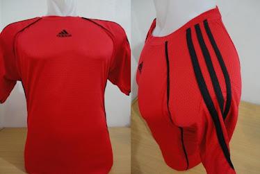 Kaos futsal adidas merah hitam