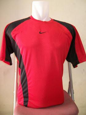 Kaos futsal nike merah hitam