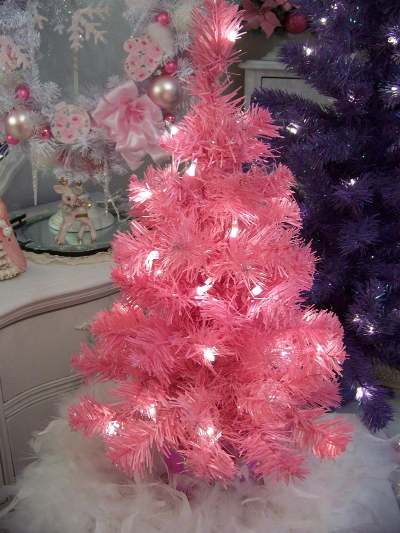If you want pink Christmas trees that really stand out, consider fuchsia. This ultra-bright shade of pink is a fabulous choice for a girls' room or for young people who want to .