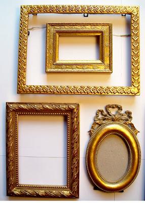 detail of venetian glass floral mosaic frames - Mini Gold Frames