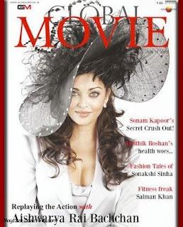 Aishwarya Rai On Global Movie Magazine Cover Page
