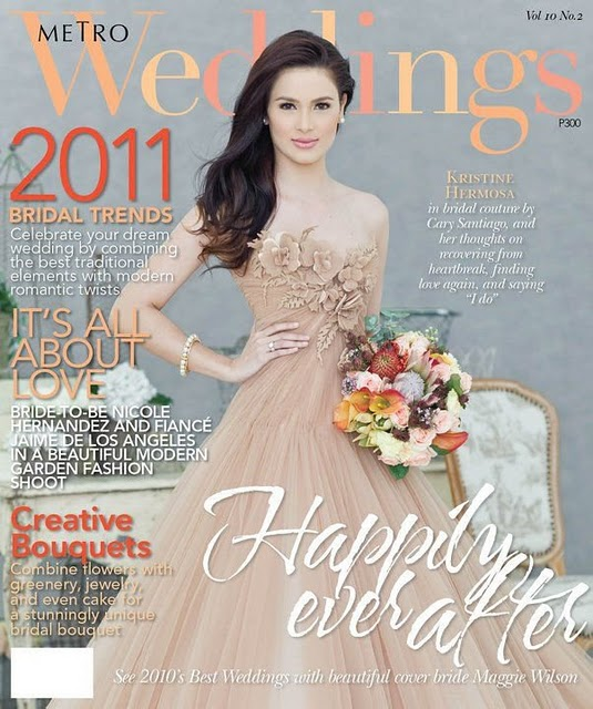 KRISTINE HERMOSA Covers Metro Weddings