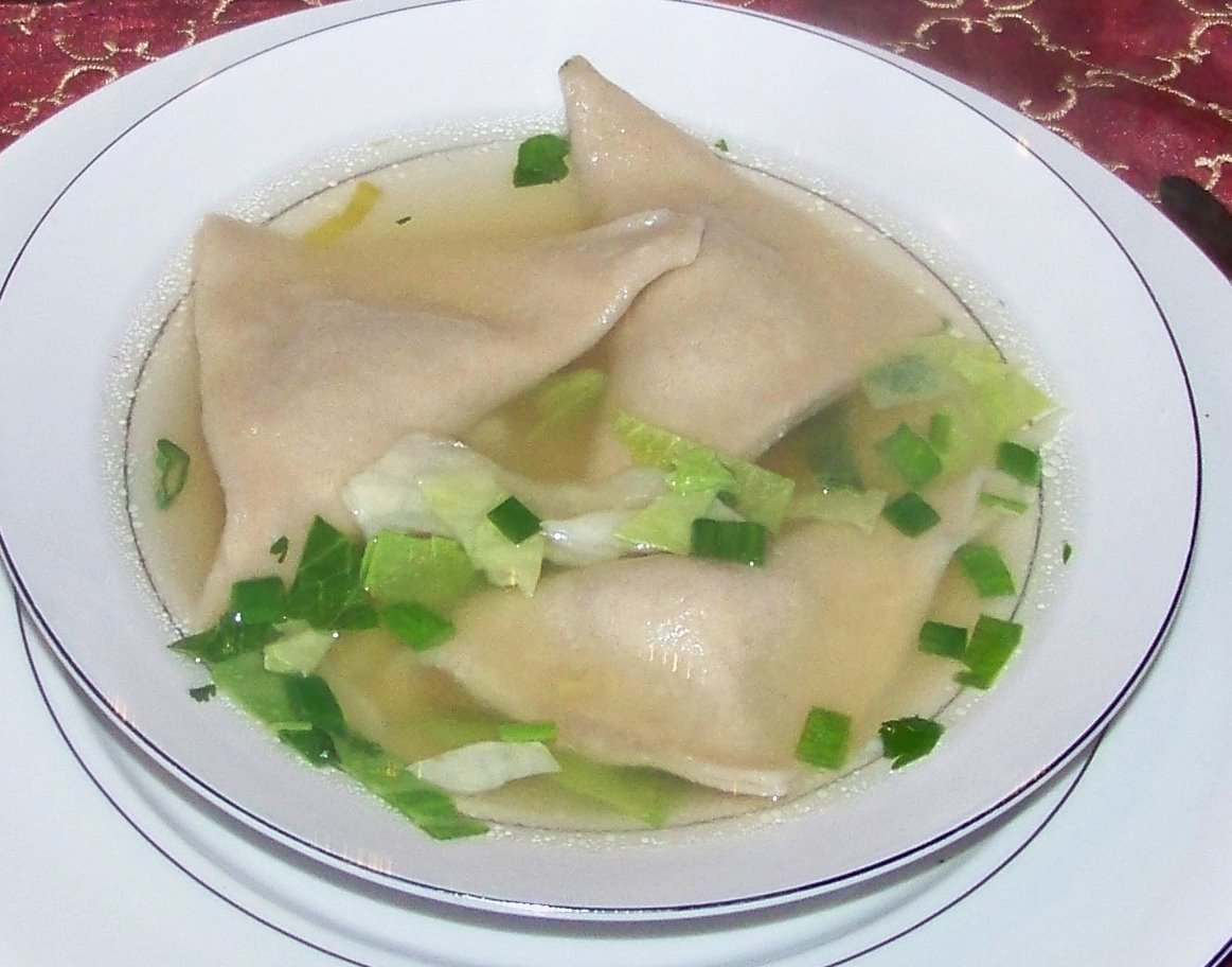 ... negated with the warmth of soup. Last night I made a wonton soup