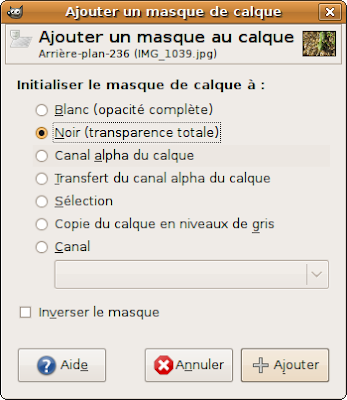 tuto ajout masque de calque pour encadrement