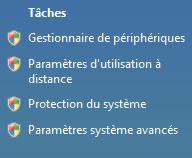 paramètres système avancés windows pour changement de la langue de Gimp