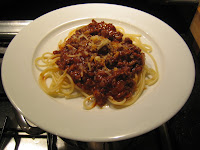 My version of Spaghetti Bolognese