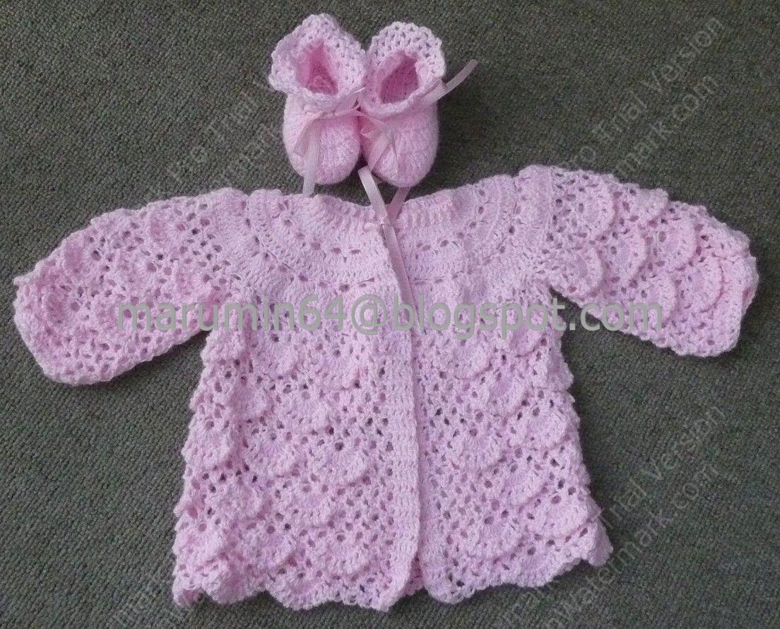 Marumin Crochet: Casaquita rosada ponto segredo