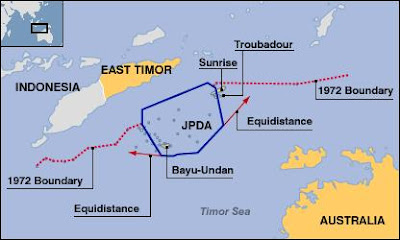 East Timor oil map
