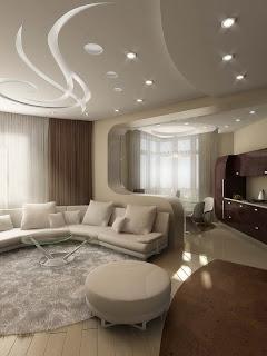lighting 3d space design living room modern furniture