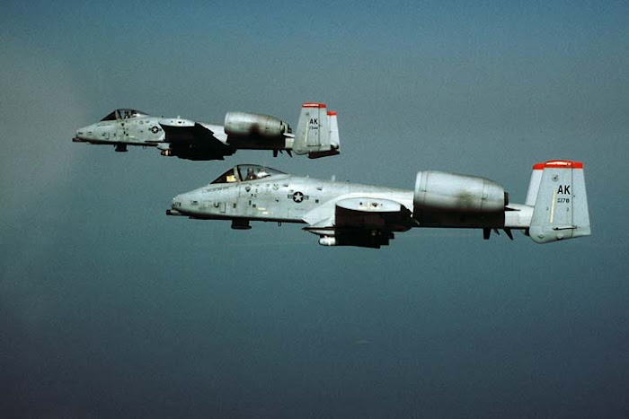 A-10s from 355 FS, Eielson AFB, AK  (April 1996)