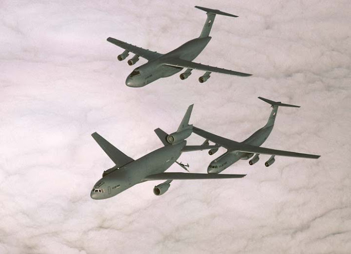 KC-10 Refuels C-141 Starlifter and C-5 Galaxy
