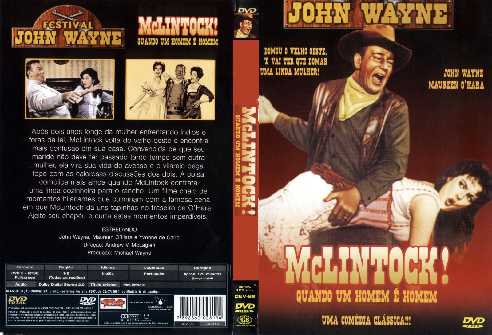 Capas De Fimes De Faroeste: McLintock - Quando Um Homem é Homem