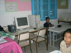 Dans la salle d'informatique