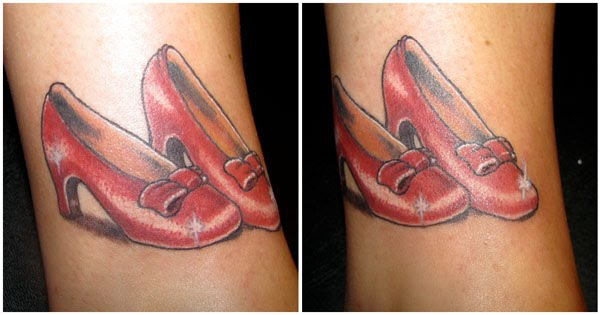 Ruby Red Ruby Slippers And Red Tattoos On Pinterest