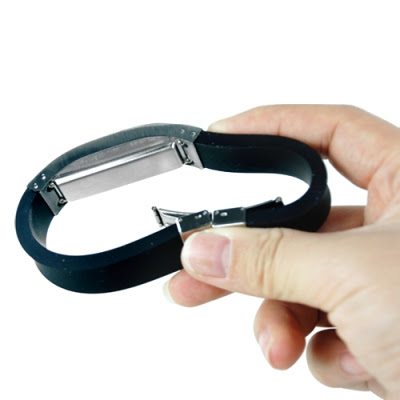 Bluetooth Bracelet with Vibration and LCD Display Bended