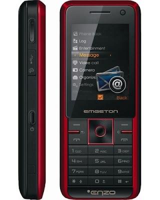 Emgeton Enzo - 3G Dual SIM GSM Mobile Phone Side Front