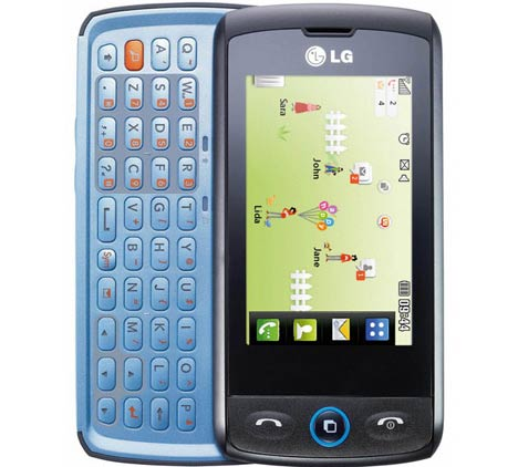 LG GW525 LiveSquare, Touchscreen plus Qwerty keypad