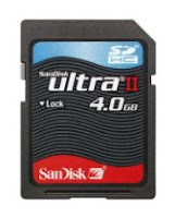 Sandisk Ultra II SDHC 4GB SD Memory Card