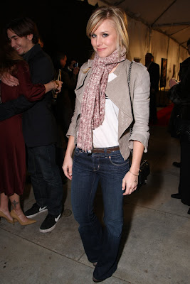 Kristen At The 'wild West' Comedy Wearing J Brand Jeans