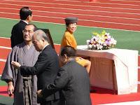 高松宮妃殿下や羽織袴姿の市長